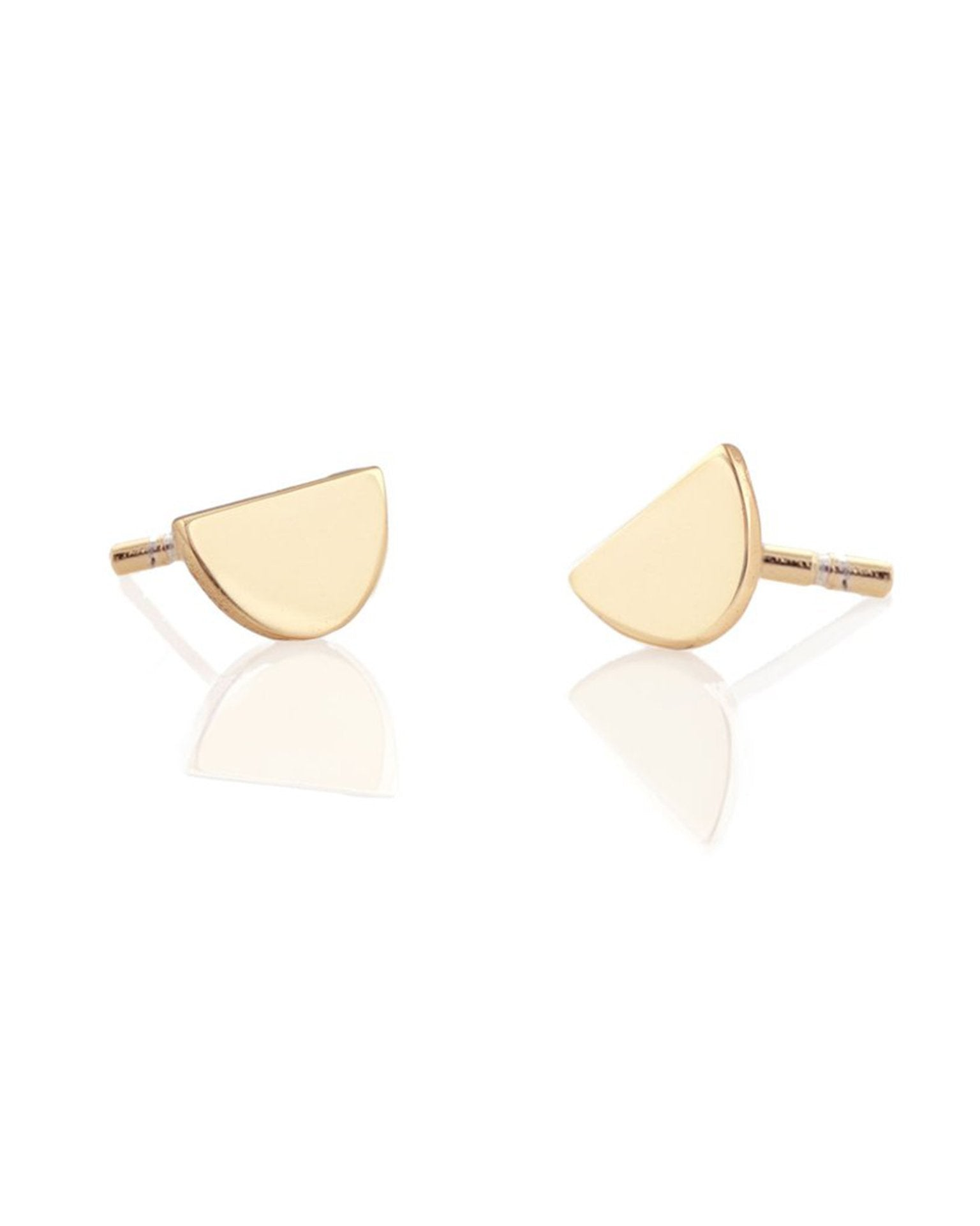 Kris Nations Jewelry 18K Gold Vermeil / O/S Half Moon Studs