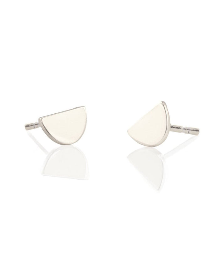 Kris Nations Jewelry Sterling Silver / O/S Half Moon Studs