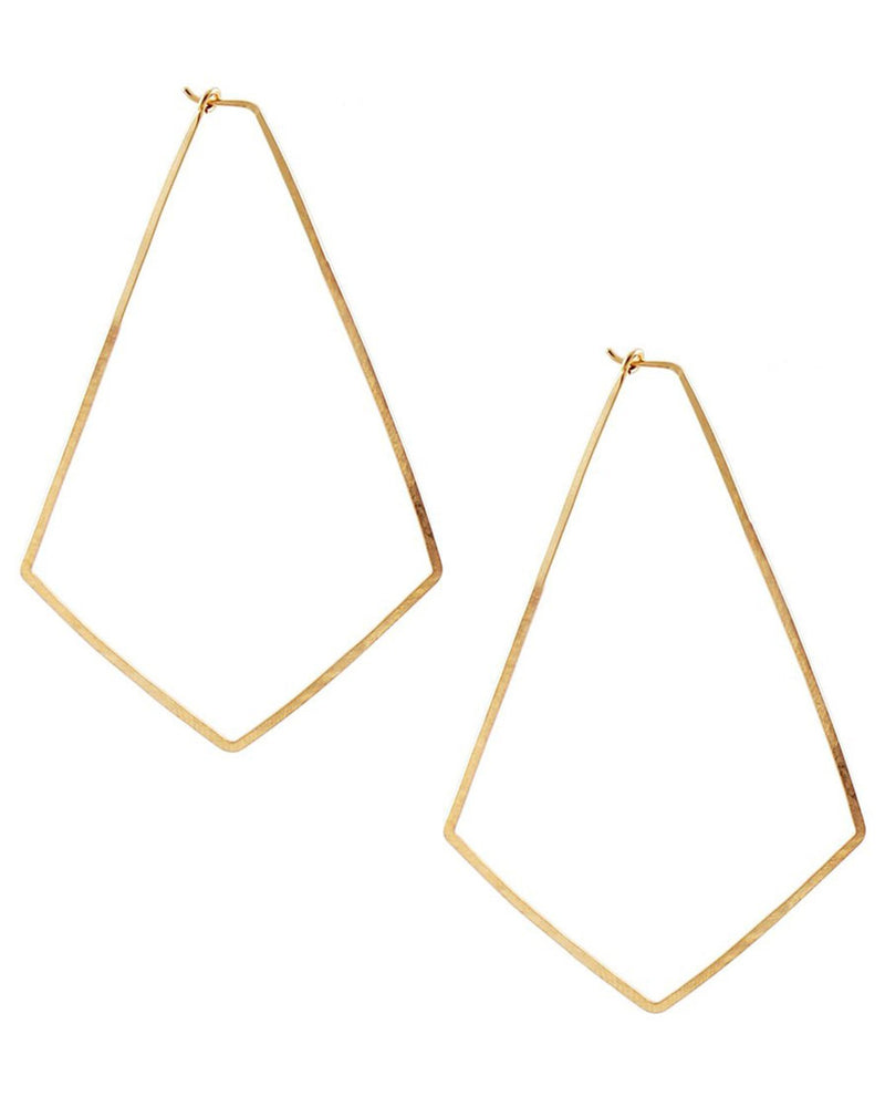 Kris Nations Jewelry Gold / O/S Large Marquis Hoops