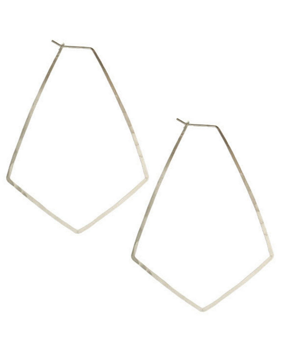 Kris Nations Jewelry Silver / O/S Large Marquis Hoops