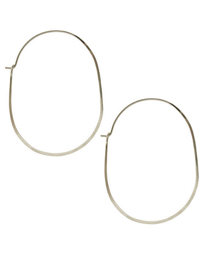 Kris Nations Jewelry Silver / O/S Large Oval Hoops