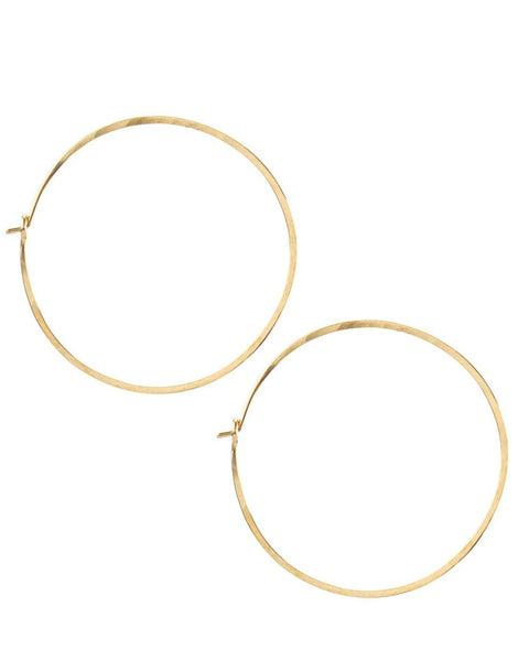 Kris Nations Jewelry Gold / O/S Large Simple Hoops