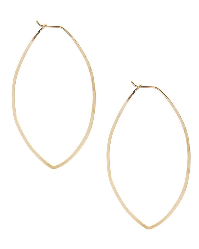 Kris Nations Jewelry 14K Gold-Filled / O/S Leaf Hammered Hoops