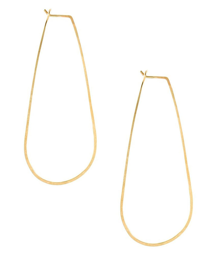 Kris Nations Jewelry Gold / O/S Long Teardrop Earrings