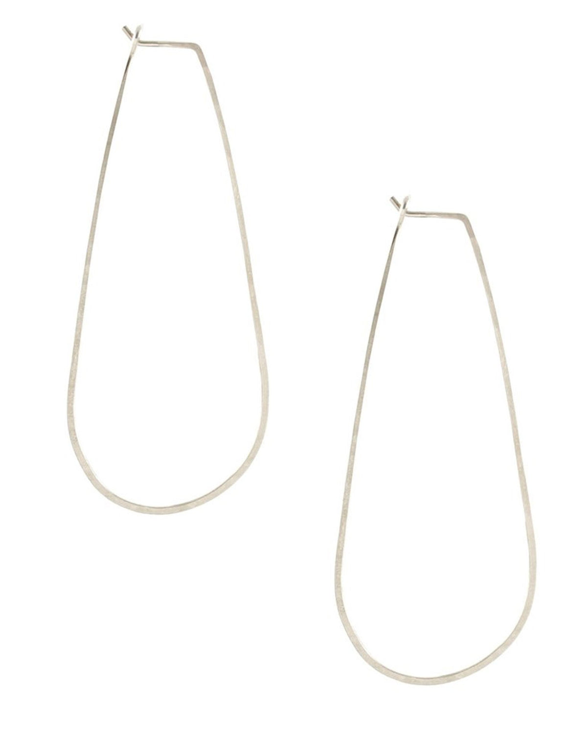 Kris Nations Jewelry Silver / O/S Long Teardrop Earrings