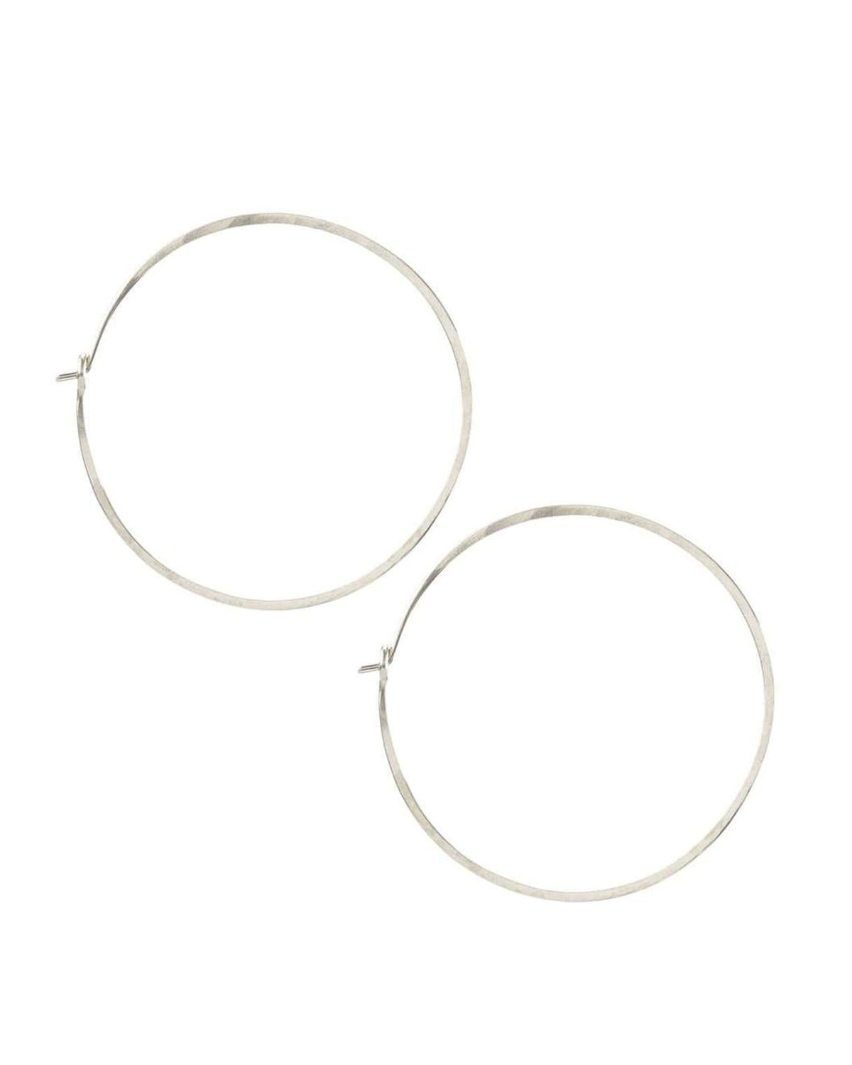 Kris Nations Jewelry O/S / Silver Medium Simple Hoops in Silver