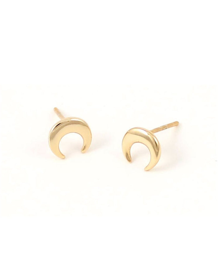 Kris Nations Jewelry 18K Gold Vermeil / O/S Naja Crescent Studs