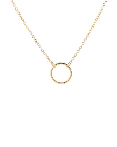 Kris Nations Jewelry 18K Gold Vermeil Simple Circle Necklace