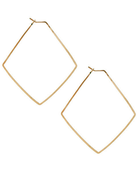 Kris Nations Jewelry Gold / O/S Small Diamond Hammered Hoops