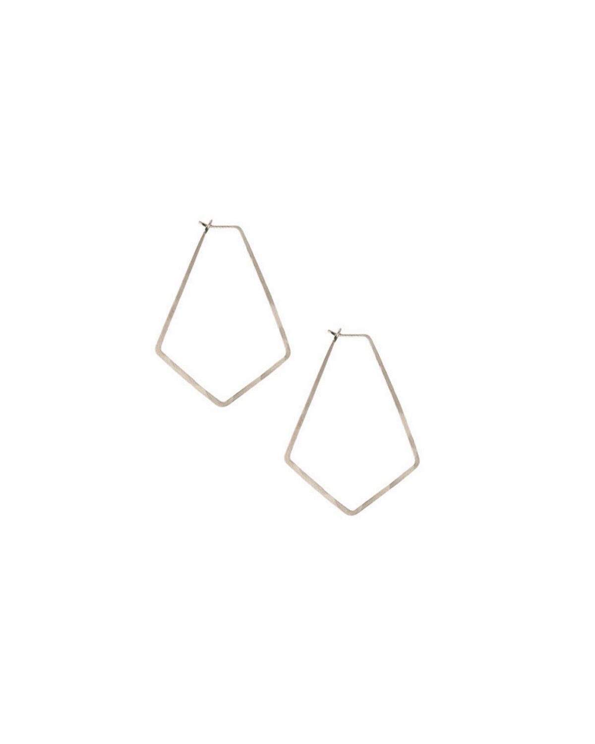 Kris Nations Jewelry Silver / O/S Small Marquis Hoops