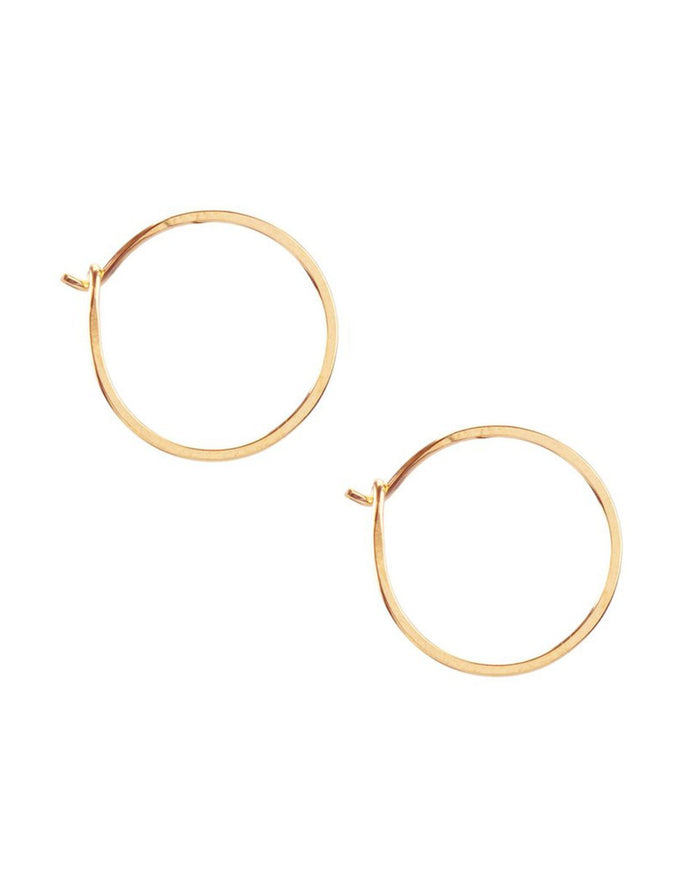 Kris Nations Jewelry 14K Gold-Filled / O/S Small Simple Hoops