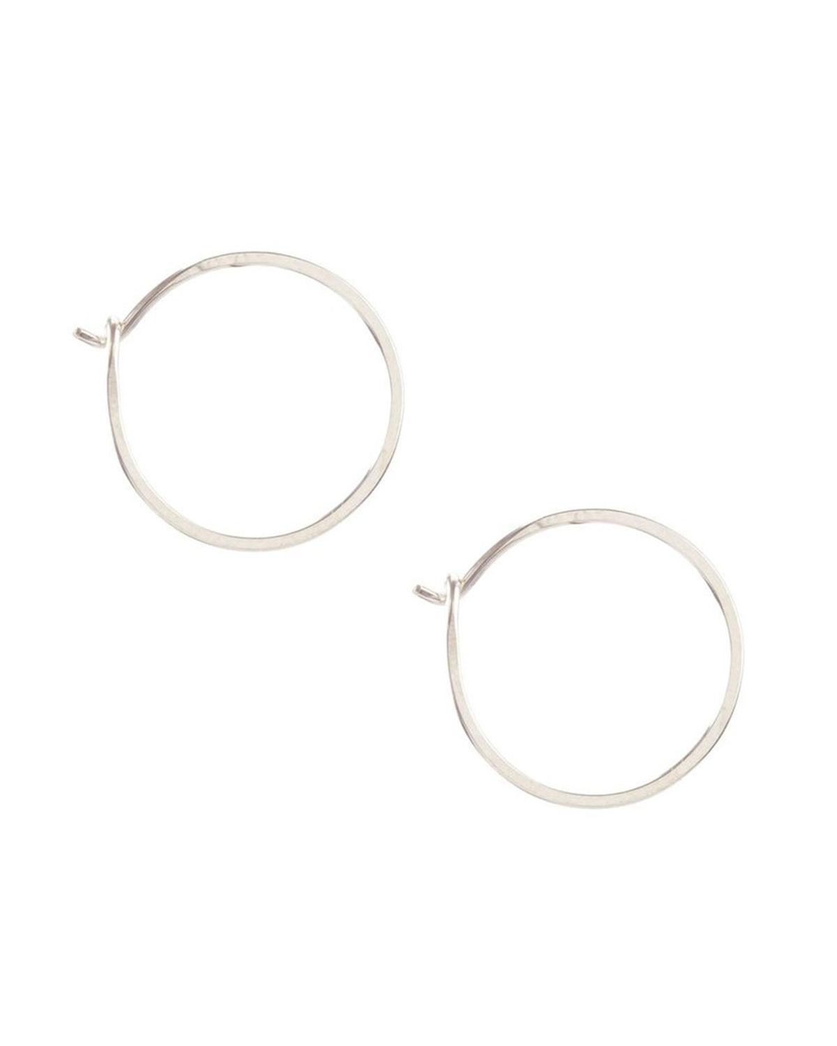 Kris Nations Jewelry Sterling Silver / O/S Small Simple Hoops
