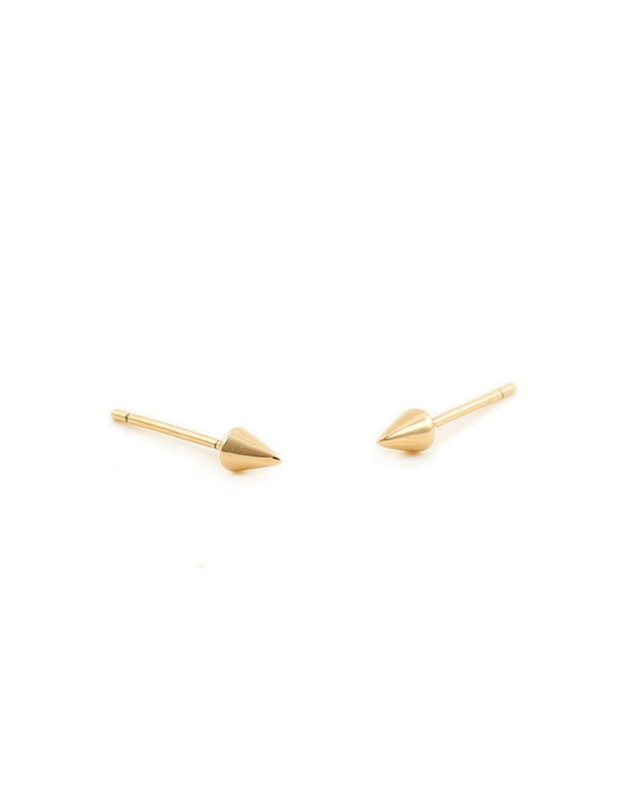 Kris Nations Jewelry 18K Gold Vermeil / O/S Spike Studs