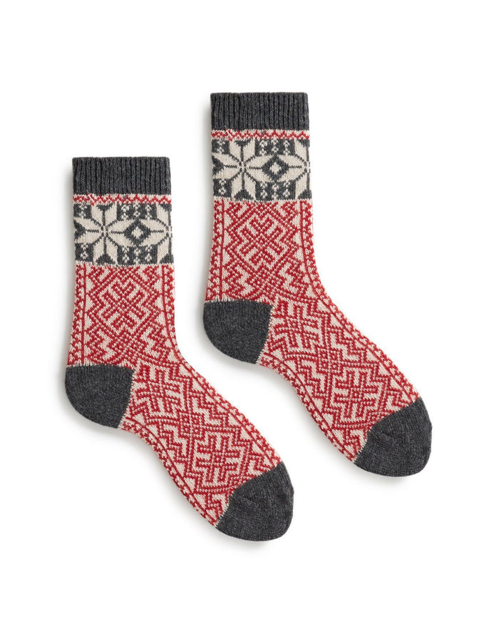 Lisa B. Socks Red / O/S Alpine Crew Socks