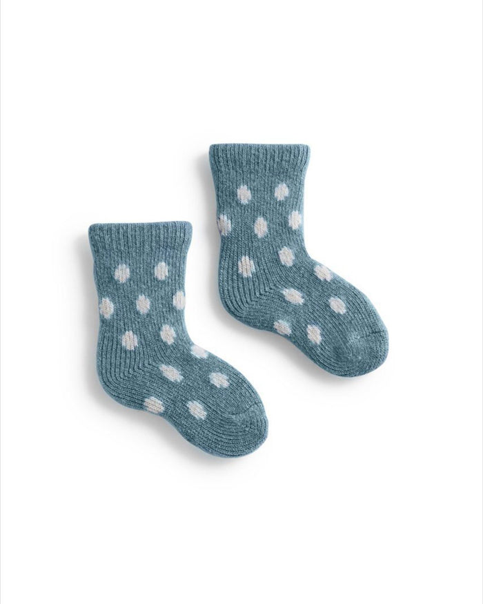 Lisa B. Socks Mineral / O/S Baby Dot Socks