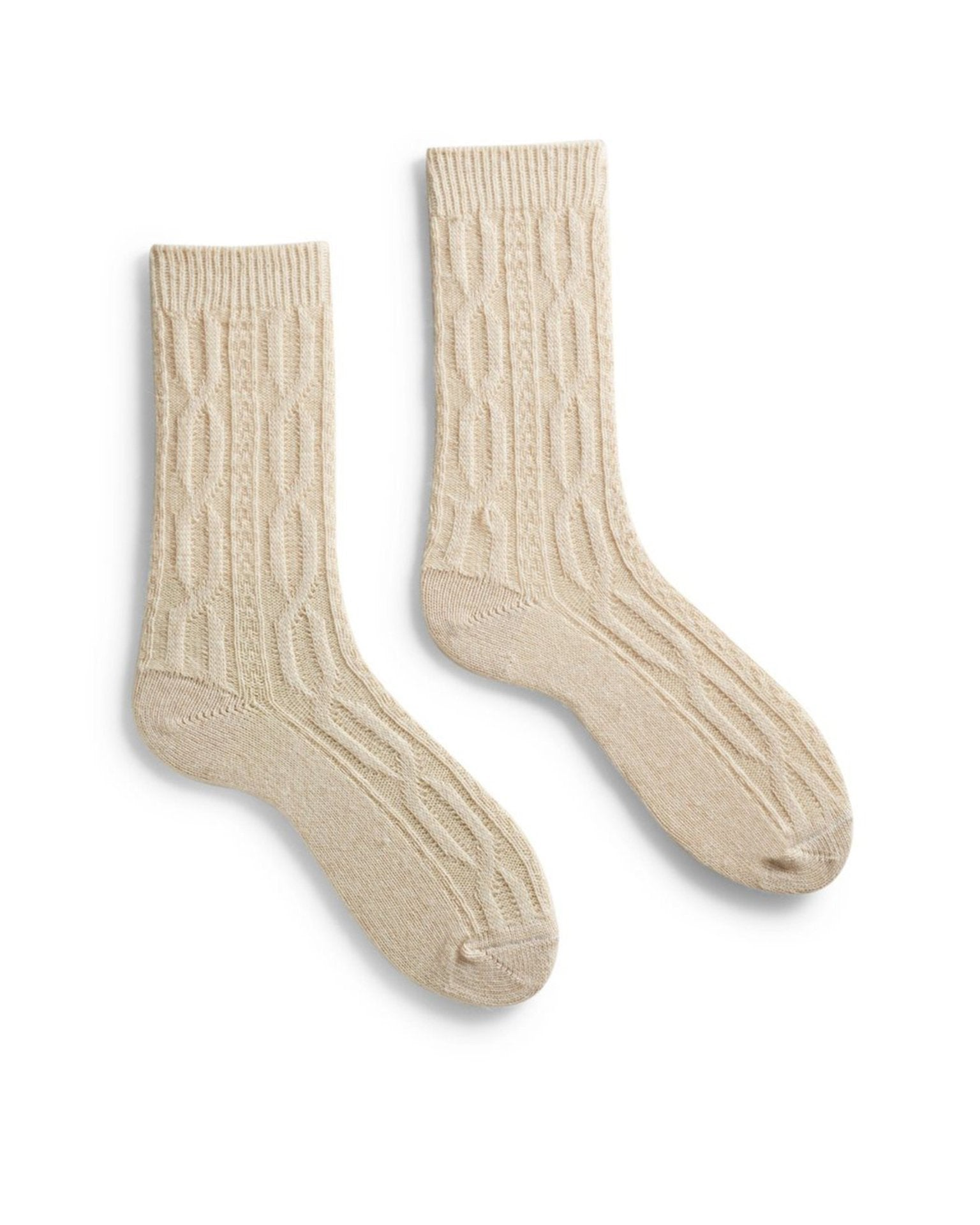 Lisa B. Accessories Cream / O/S Chunky Cable Socks