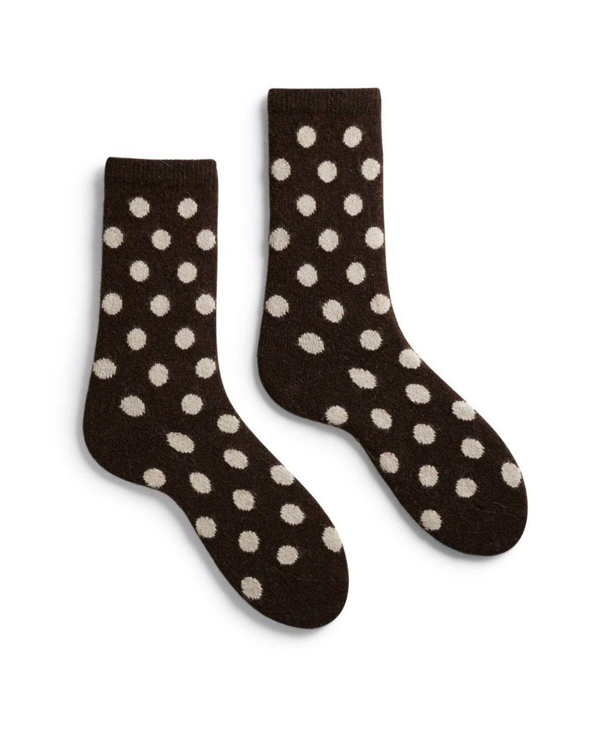 Lisa B. Accessories Espresso / O/S Dot Socks