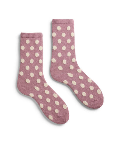 Lisa B. Accessories Mauve / O/S Dot Socks