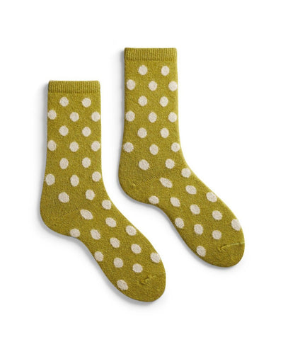 Lisa B. Accessories Palm Leaf / O/S Dot Socks