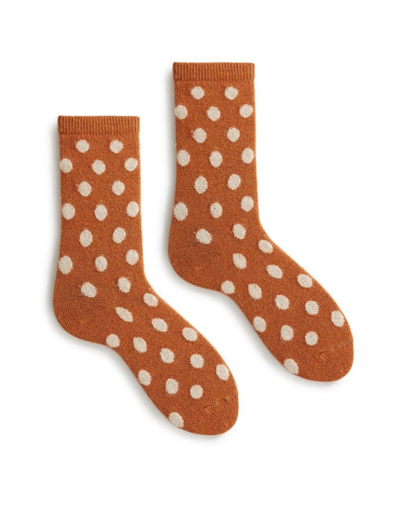 Lisa B. Accessories Toffee / O/S Dot Socks