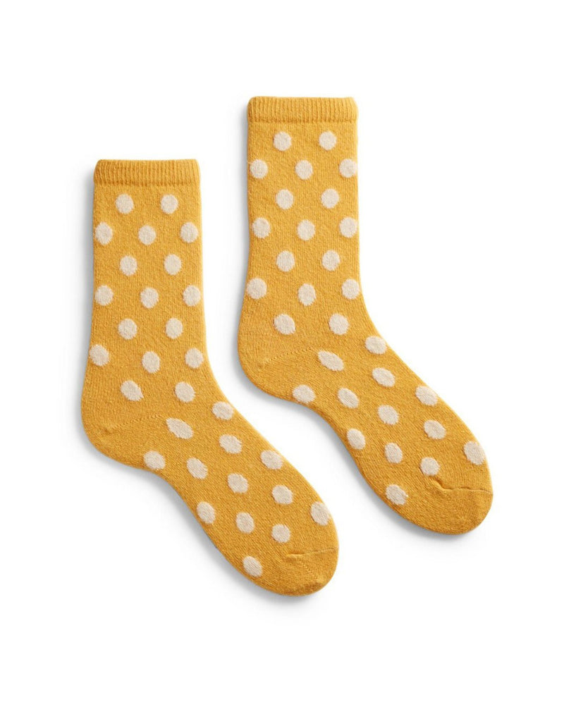 Lisa B. Accessories Yellow / O/S Dot Socks