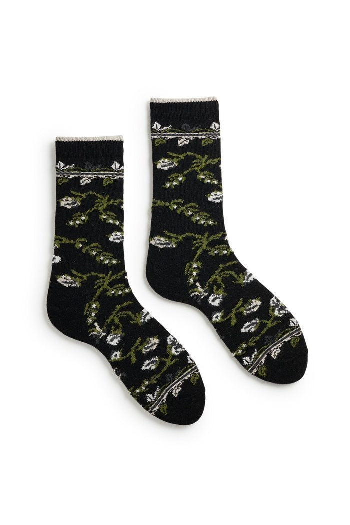 Lisa B. Socks Black / O/S Floral Socks