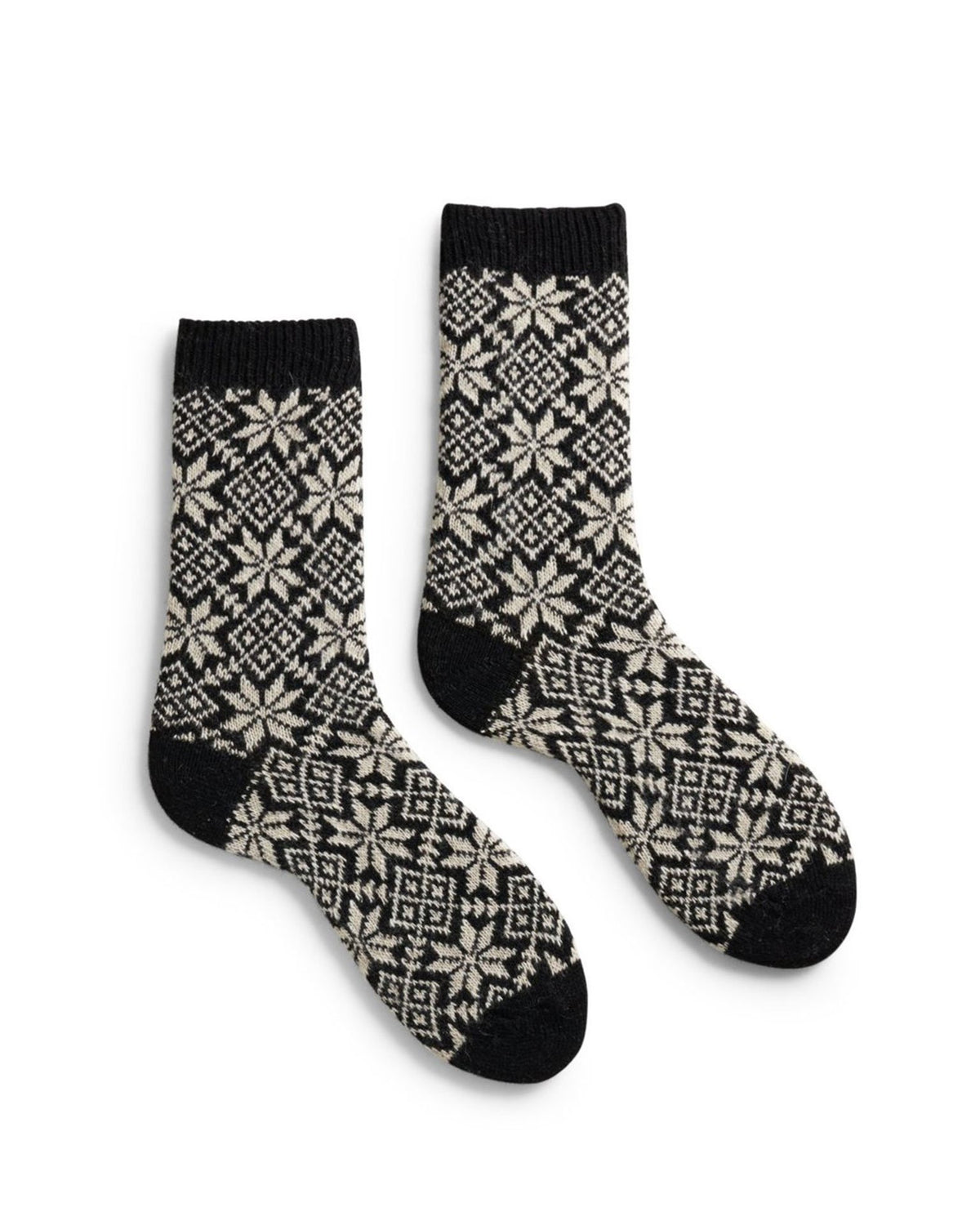 Lisa B. Accessories Black / O/S Snowflake Socks