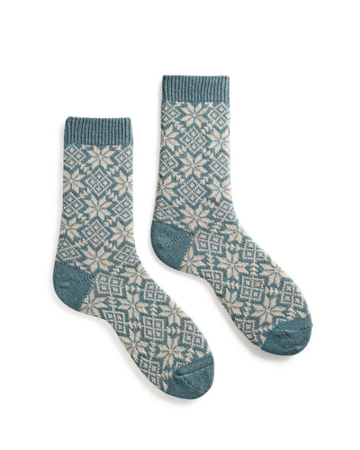 Lisa B. Accessories Mineral / O/S Snowflake Socks