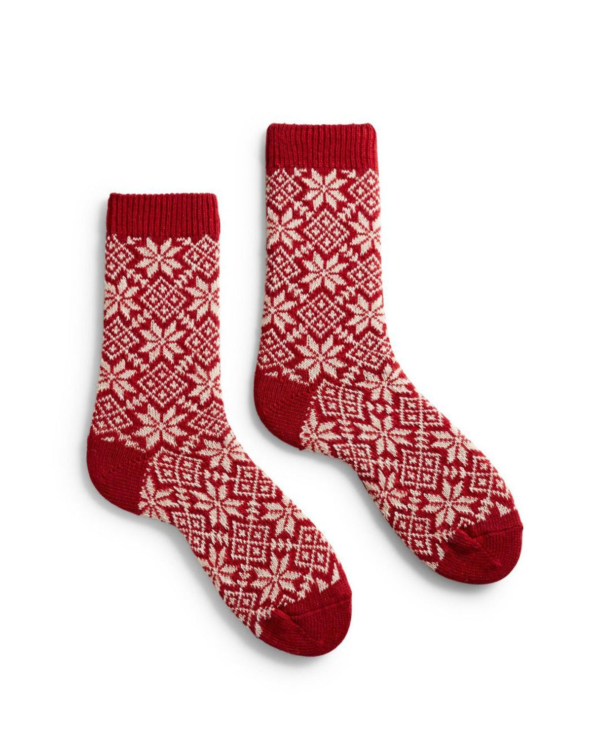 Lisa B. Accessories Red / O/S Snowflake Socks