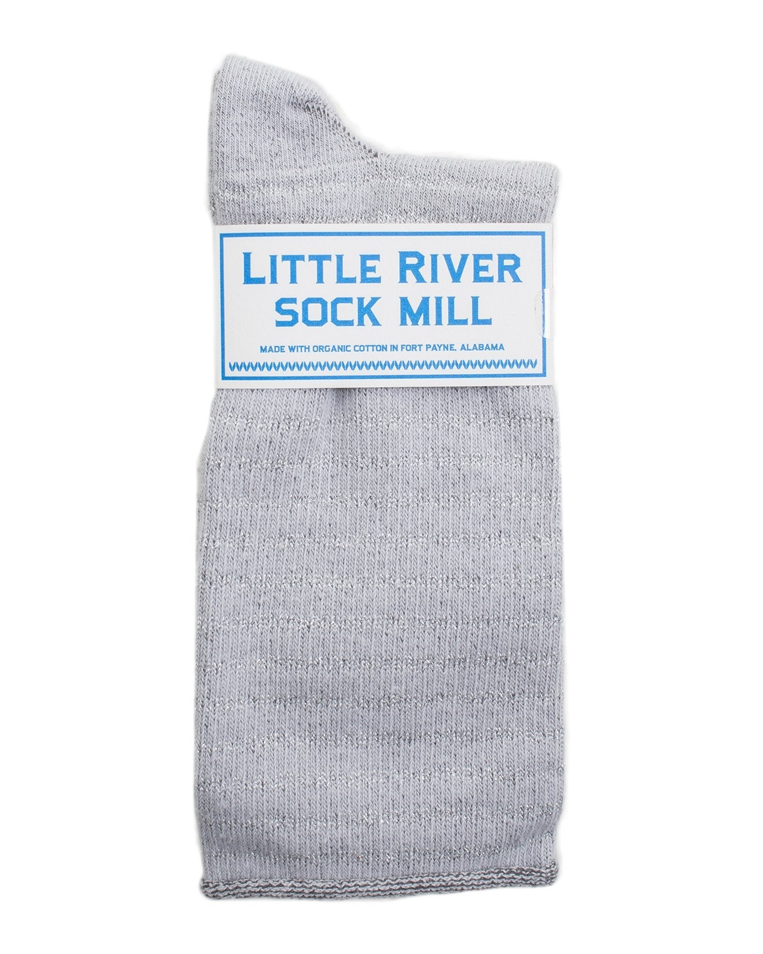 Little River Sock Mill Accessories Dove/Silver / O/S Metallic Striped Slouch