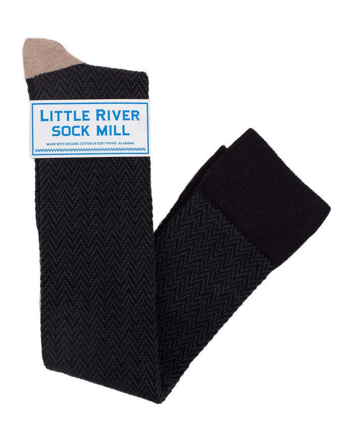 Little River Sock Mill Accessories Black/Fawn / O/S OTK Textured Herringbone