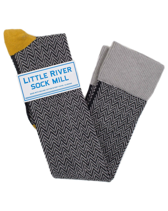 Little River Sock Mill Accessories Heather/Mustard / O/S OTK Textured Herringbone