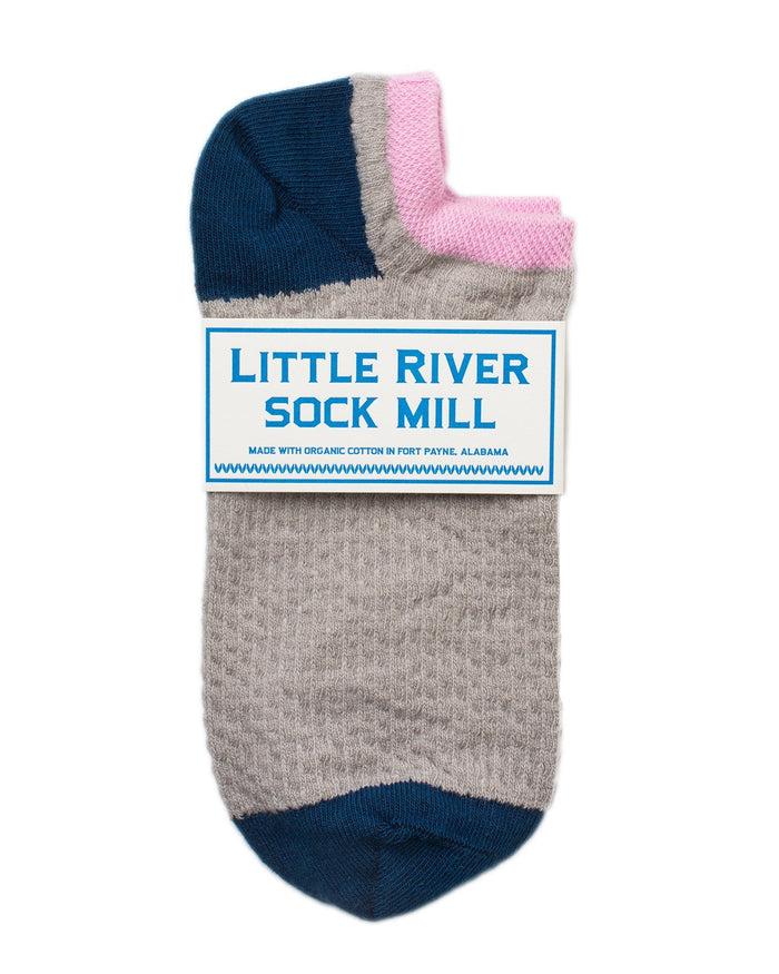 Little River Sock Mill Accessories Heather/Poseidon / O/S Pin Tuck Footie