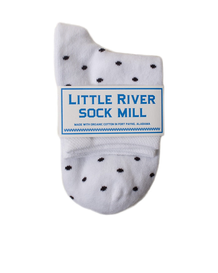 Little River Sock Mill Accessories Indigo/Natural / O/S Polka Dot Anklet