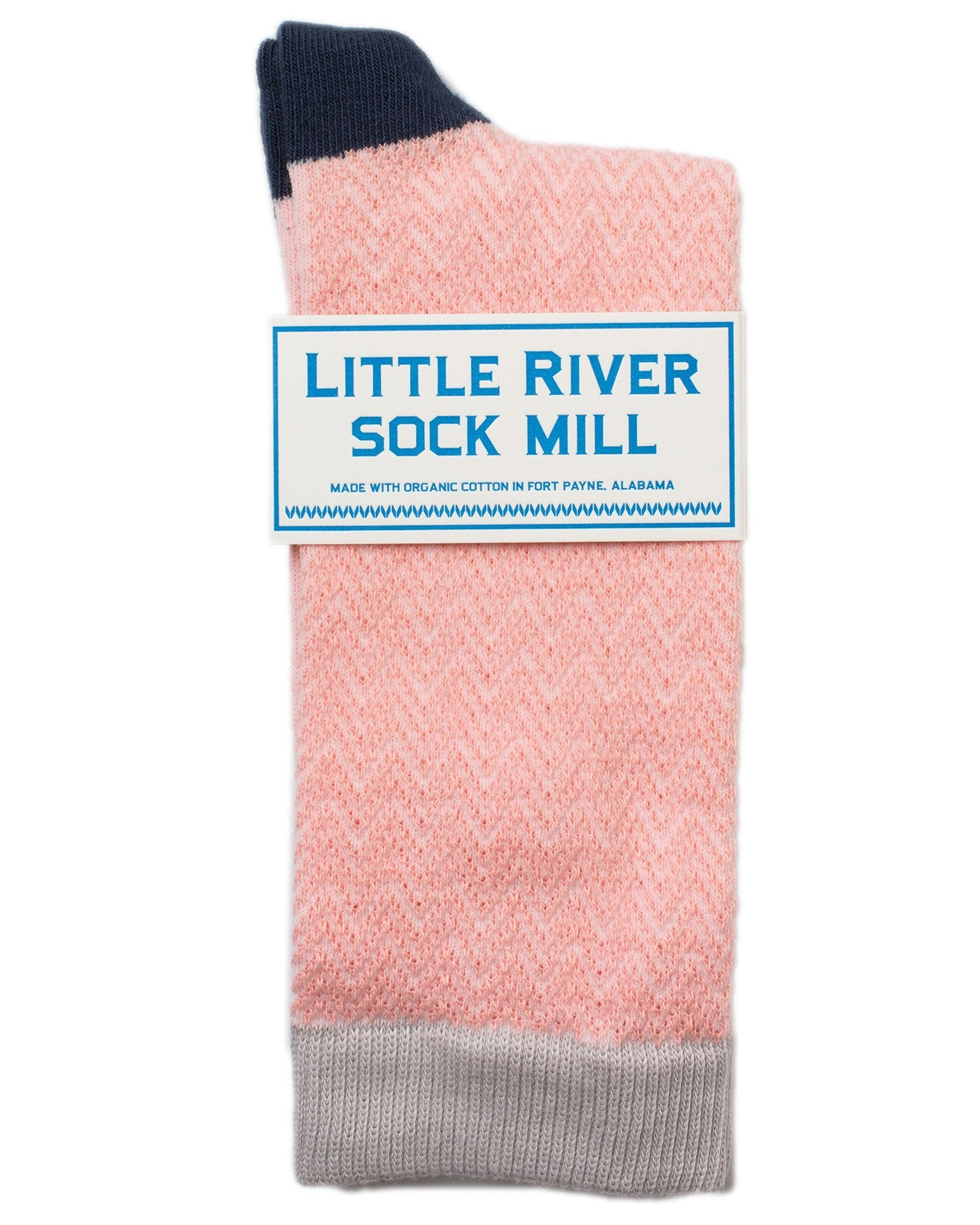 Little River Sock Mill Accessories Blossom / O/S Textured Herringbone Crew