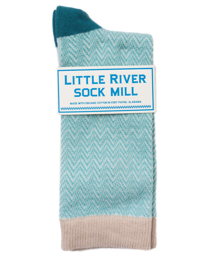 Little River Sock Mill Accessories Slate / O/S Textured Herringbone Crew