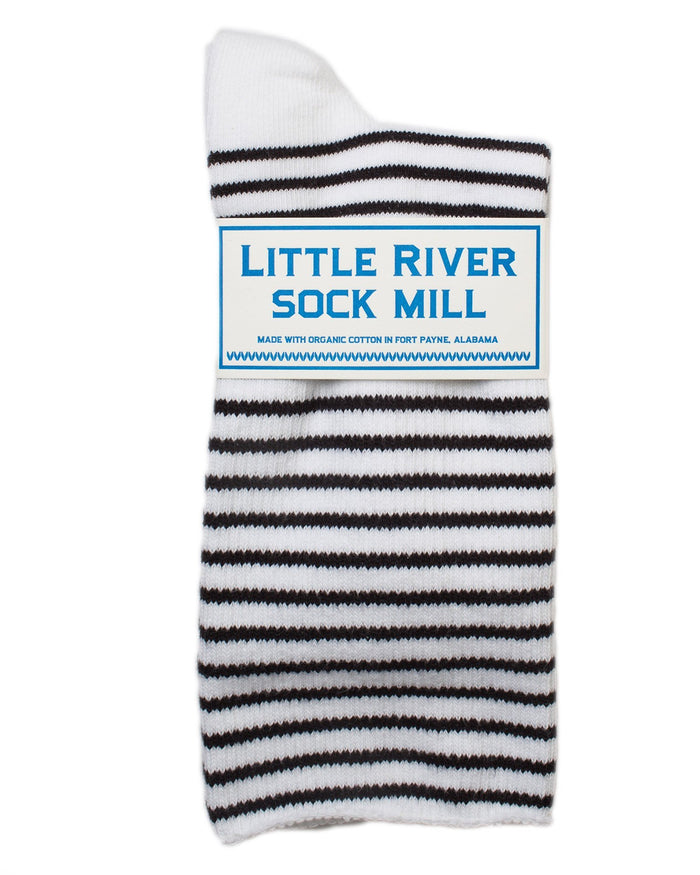 c80f5e65d Little River Sock Mill Accessories White Black   O S The Striped Slouch ...