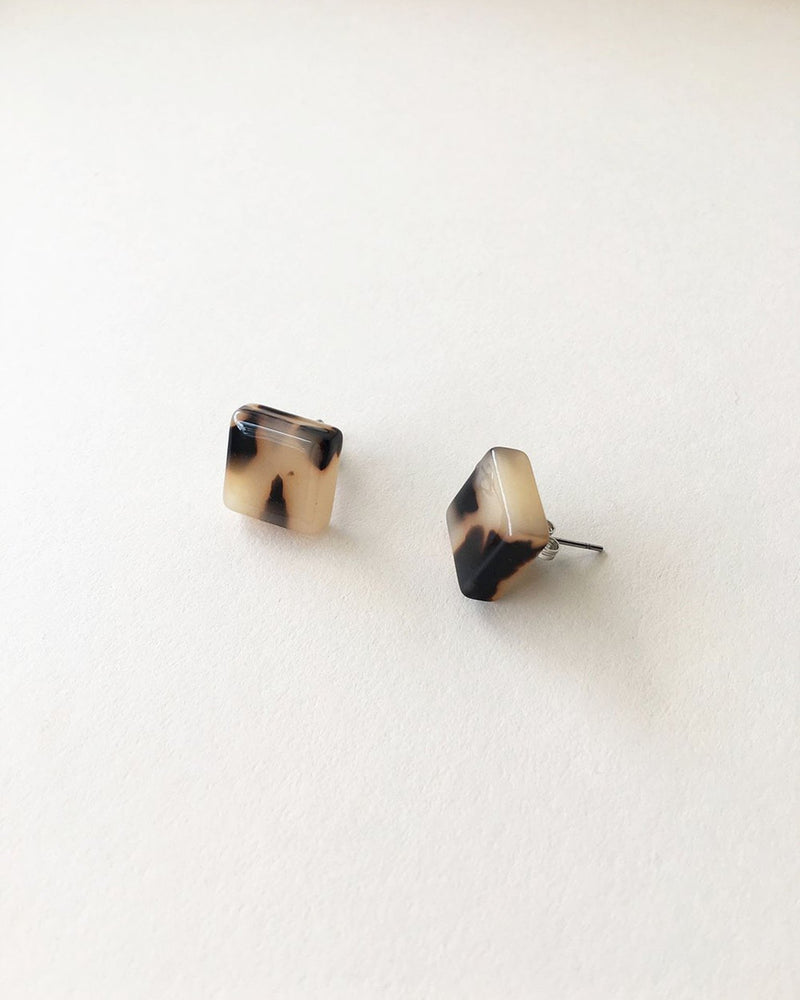 Machete Jewlery Blonde Tortoise / O/S Block Earrings