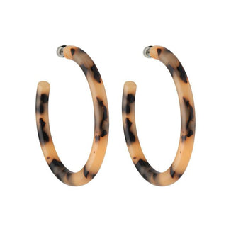 Machete Jewlery Blonde Tortoise Bold Hoops in Blonde Tortoise