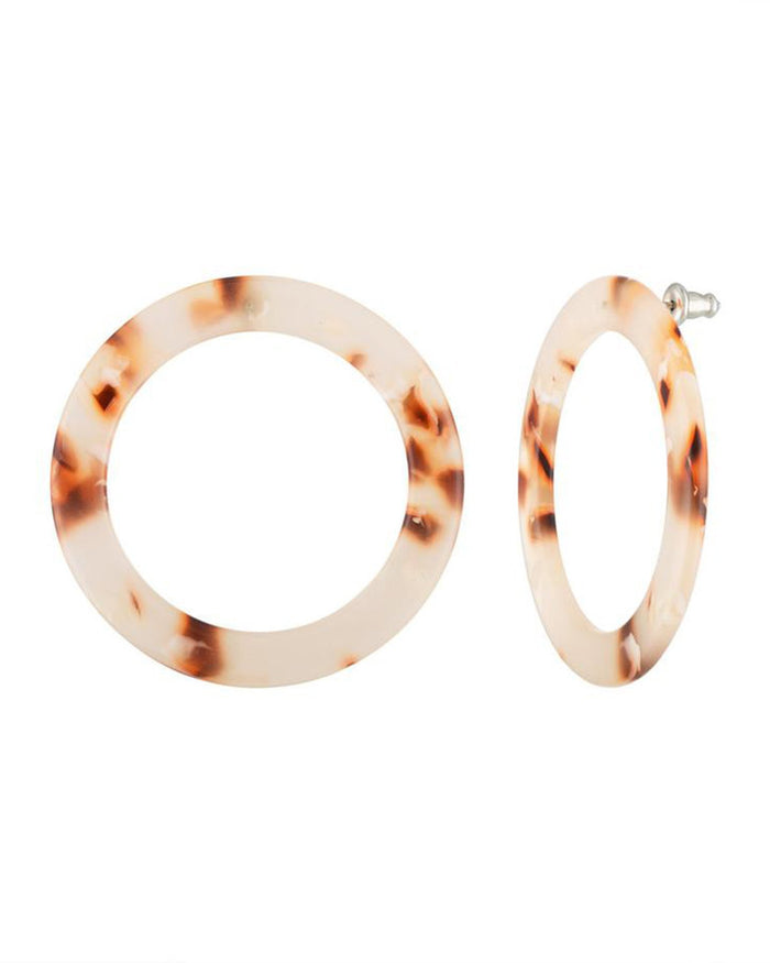 Machete Jewlery Ash Blonde Tortoise / O/S Isla Side Hoops