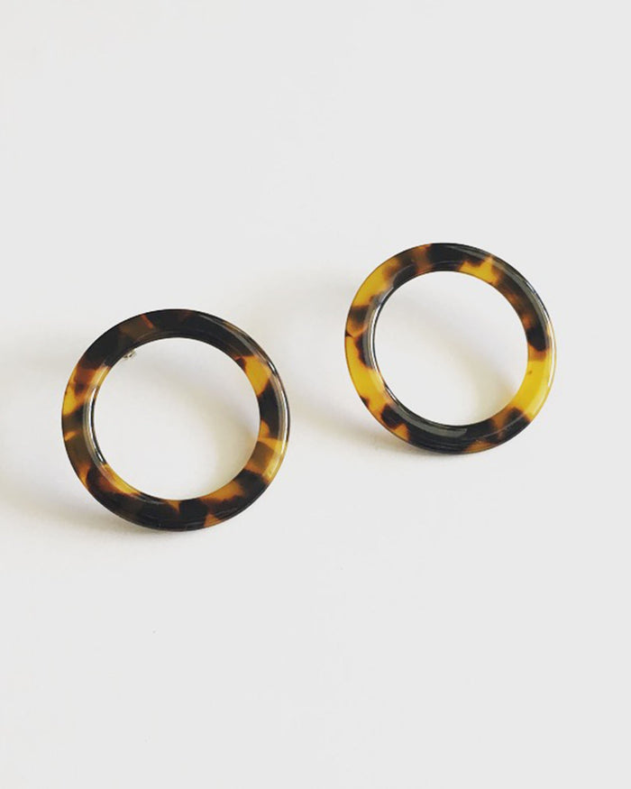 Machete Jewlery Tortoise / O/S Isla Side Hoops