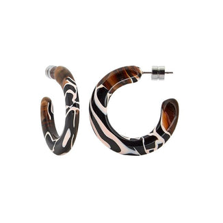 Machete Jewelry Zebra Kate Hoops in Zebra