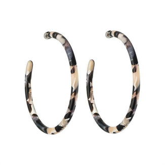 Machete Jewlery Abalone Large Hoops in Abalone