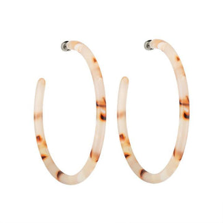 Machete Jewlery Blush Tortoise Large Hoops in Blush Tortoise