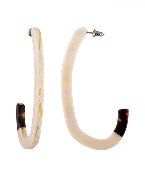Machete Jewlery Alabaster / O/S Margot Low Hoops