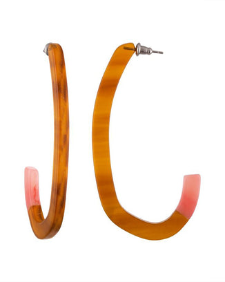 Machete Jewlery Cognac / O/S Margot Low Hoops