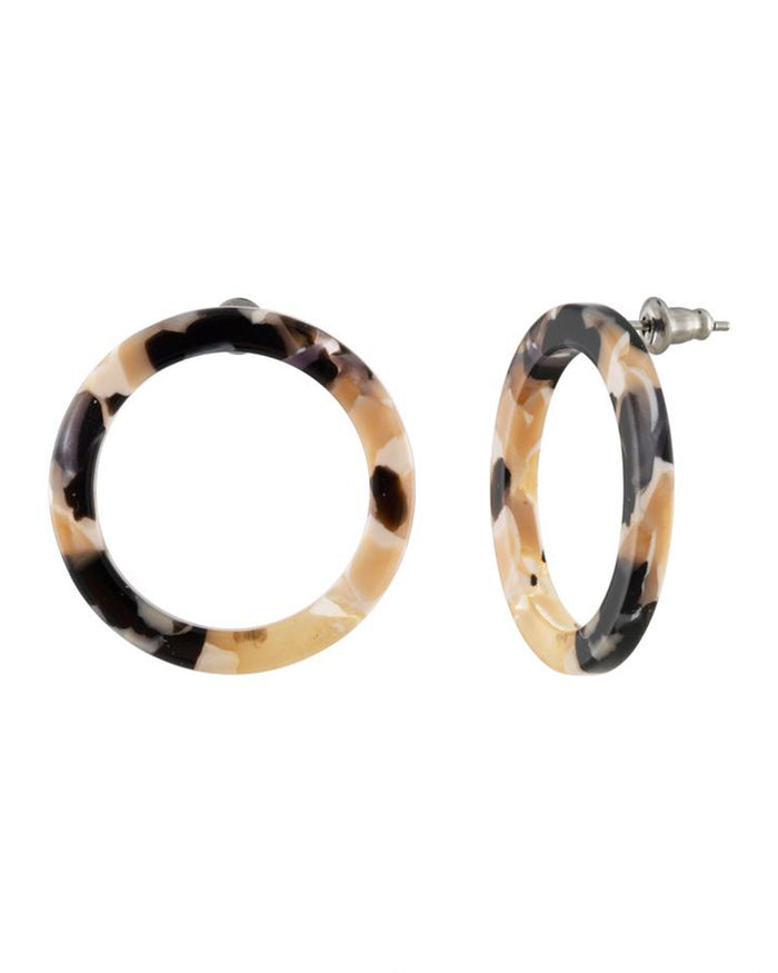 Machete Jewlery Abalone / O/S Mini Isla Side Hoops