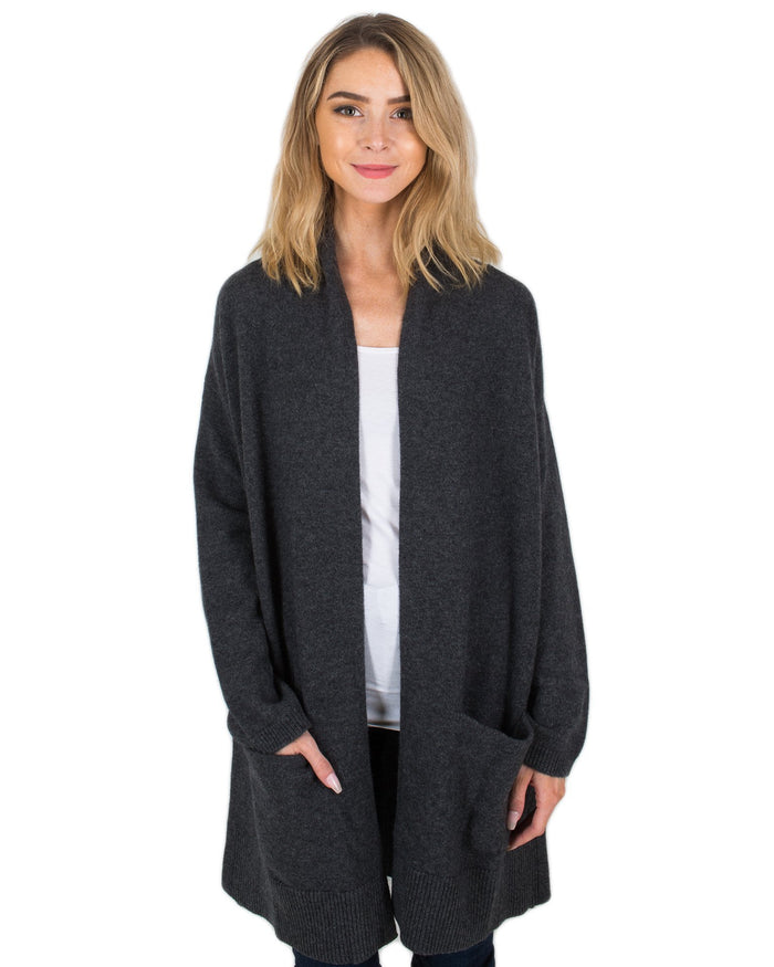 Margaret O'Leary Clothing Charcoal / XS 4 Ply Cashmere Coat