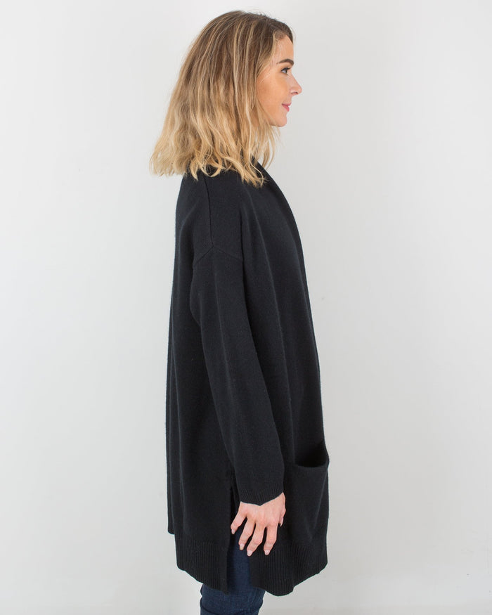 Margaret O'Leary Clothing 4 Ply Cashmere Coat in Black