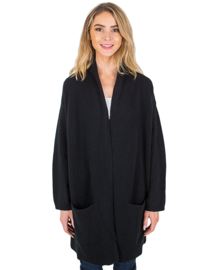 Margaret O'Leary Clothing Black / XS 4 Ply Cashmere Coat in Black
